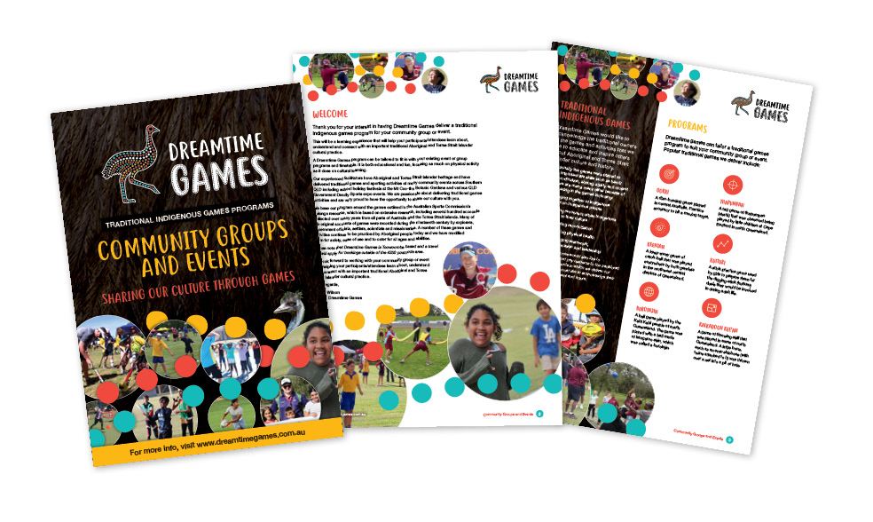 Dreamtime Games email handout