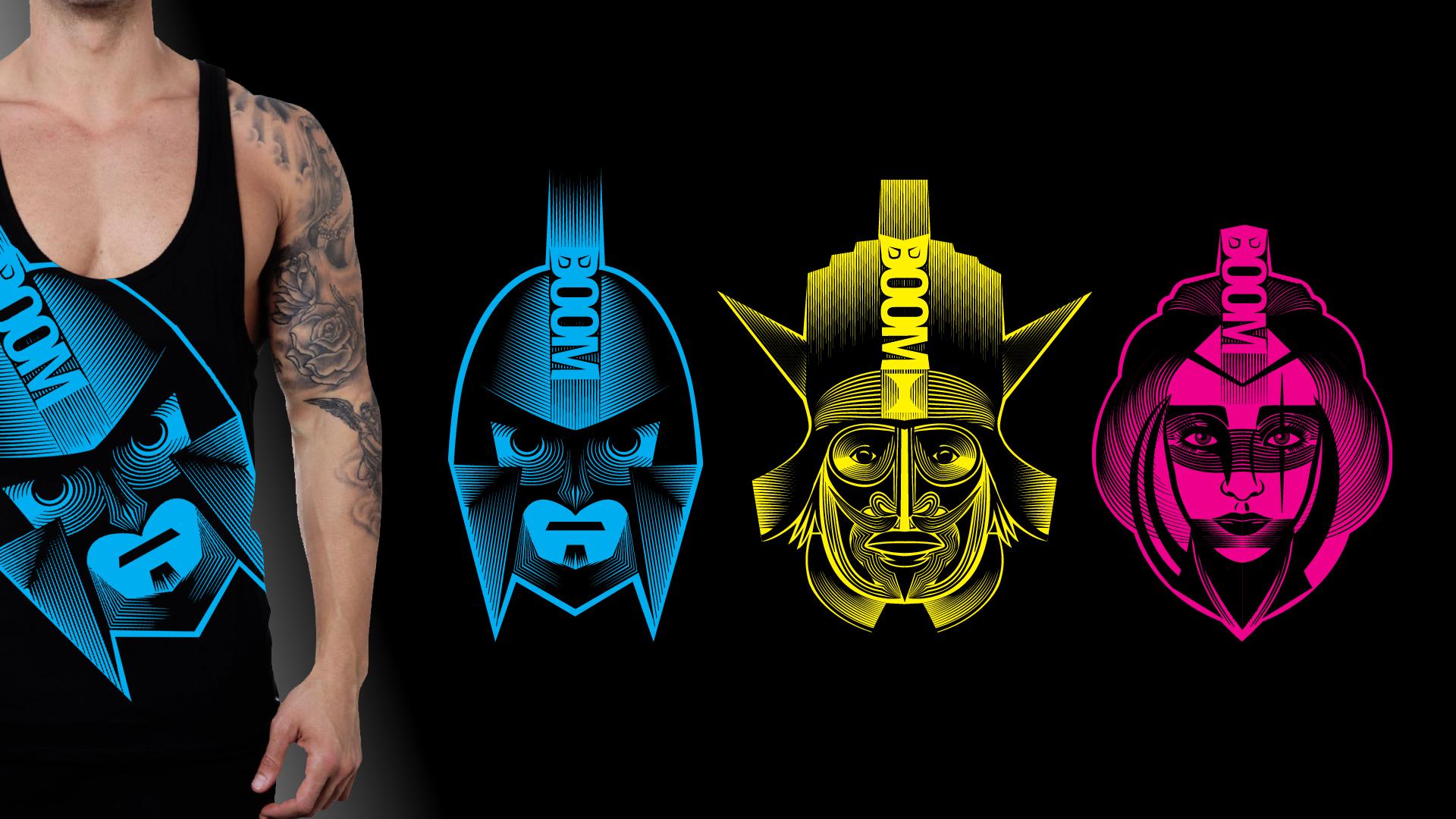 Boom Warriors shirt designs
