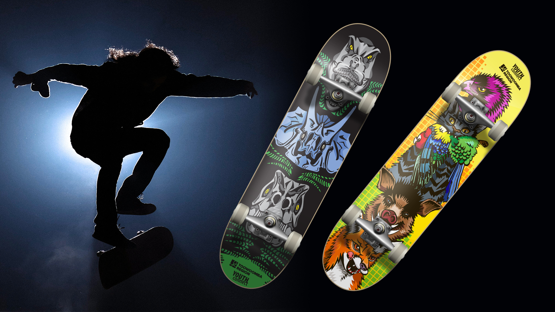 Youth Connect Skateboard deck designs